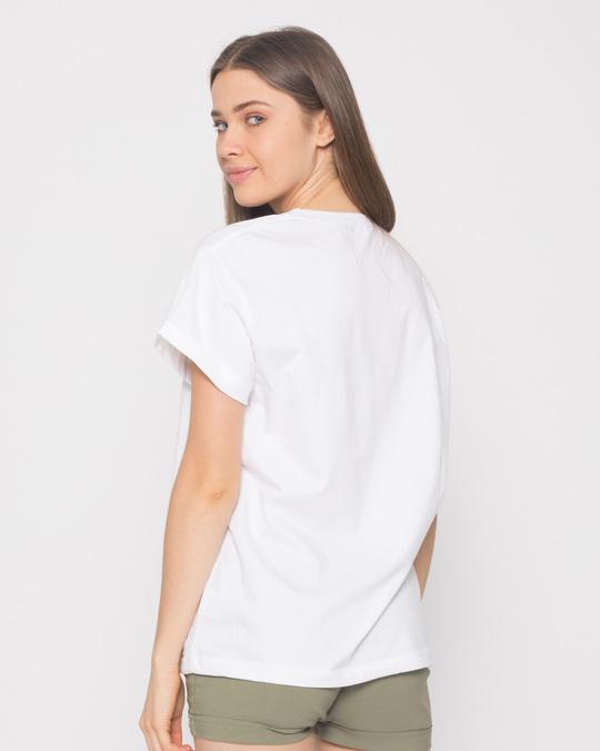 Shop Minimal Dog Face Boyfriend T-Shirt-Full
