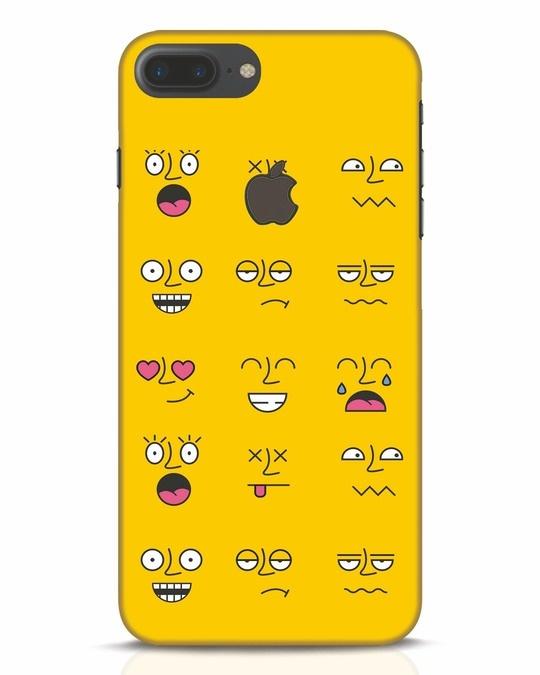 Shop Minimal Emoji iPhone 7 Plus Logo Cut Mobile Cover-Front