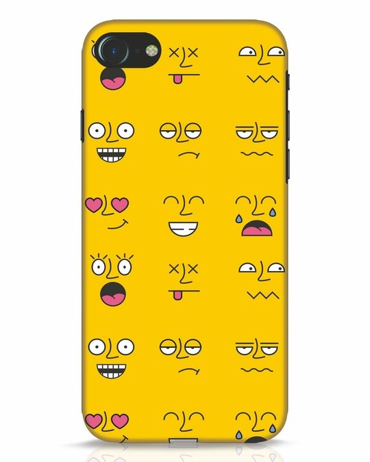 Shop Minimal Emoji iPhone 8 Mobile Cover-Front