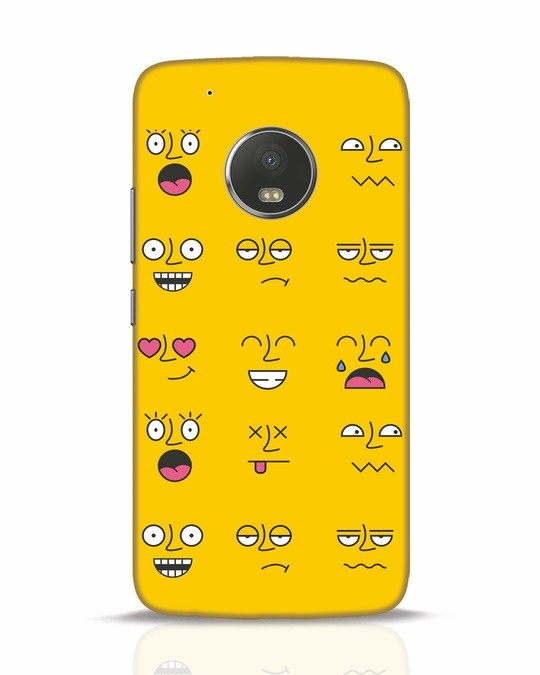 Shop Minimal Emoji Moto G5 Plus Mobile Cover-Front