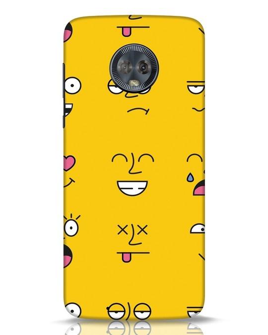Shop Minimal Emoji Moto G6 Mobile Cover-Front