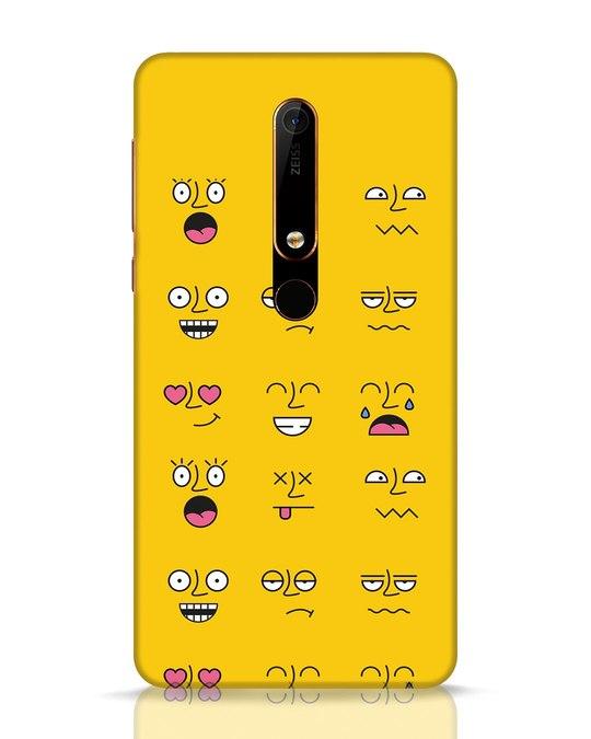 Shop Minimal Emoji Nokia 6.1 Mobile Cover-Front