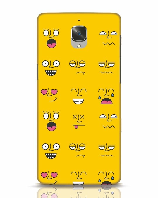 Shop Minimal Emoji OnePlus 3 Mobile Cover-Front