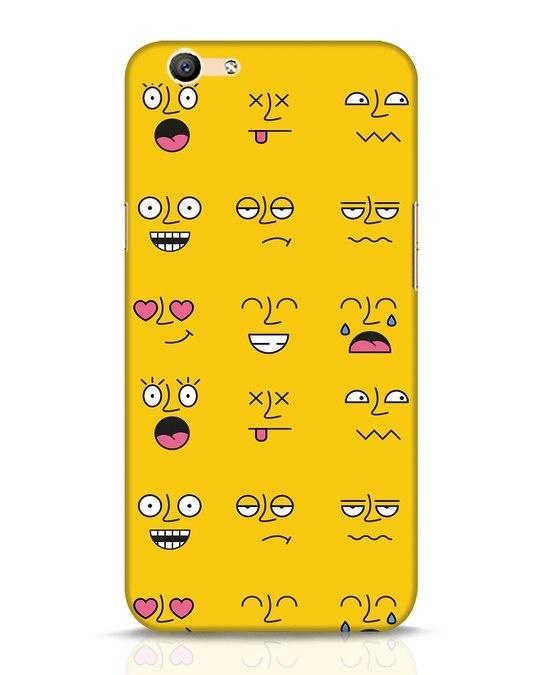 Shop Minimal Emoji Oppo F1s Mobile Cover-Front
