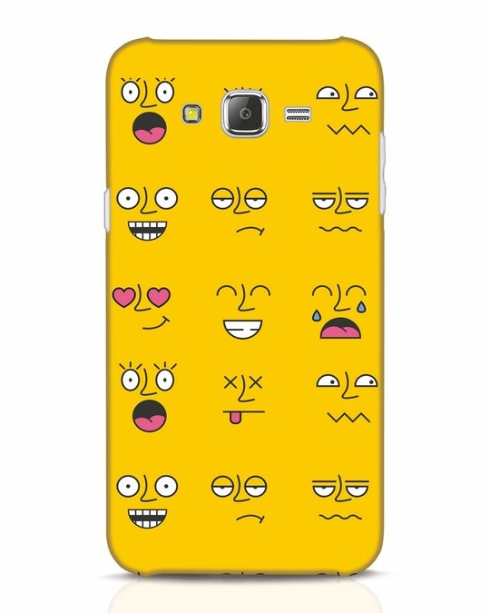 Shop Minimal Emoji Samsung Galaxy J7 Mobile Cover-Front