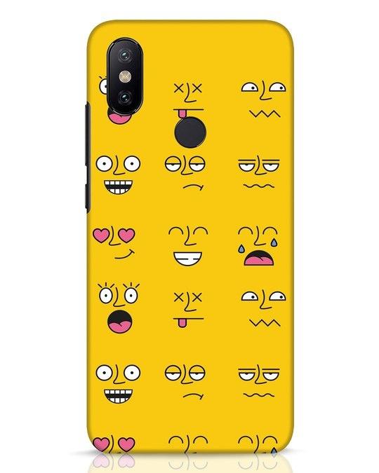 Shop Minimal Emoji Xiaomi Mi A2 Mobile Cover-Front