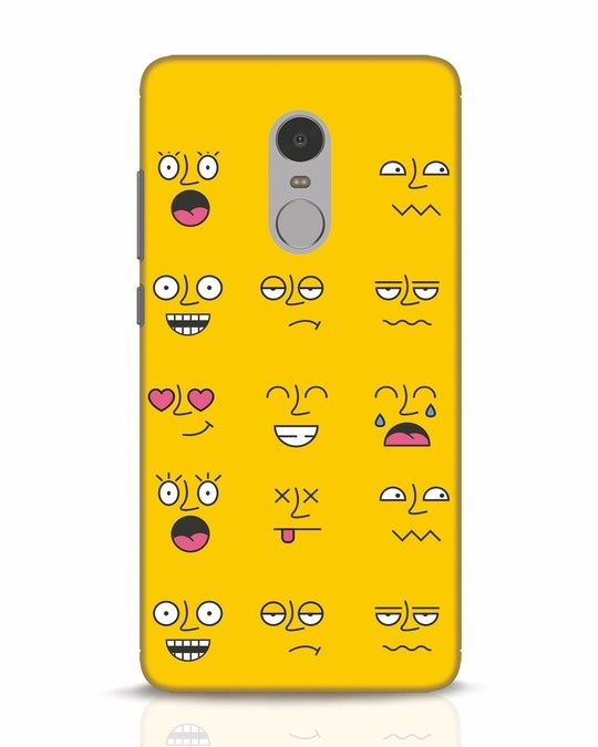 Shop Minimal Emoji Xiaomi Redmi Note 4 Mobile Cover-Front