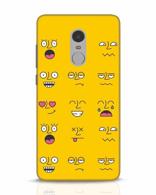 Shop Minimal Emoji Xiaomi Redmi Note 4 Mobile Cover-Front