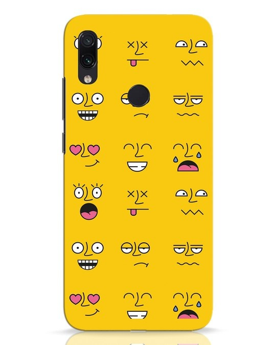 Shop Minimal Emoji Xiaomi Redmi Note 7 Pro Mobile Cover-Front