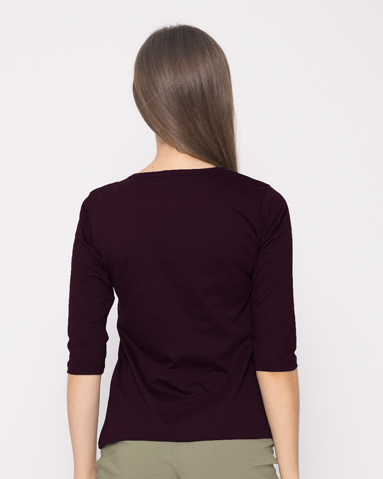 Shop Minimal Flawless Round Neck 3/4th Sleeve T-Shirt-Full