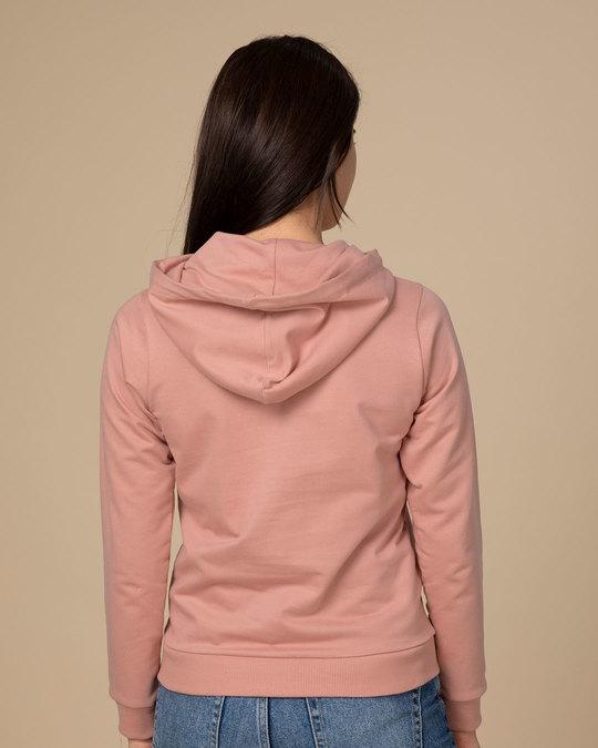 Shop Minimal Girl Power Fleece Hoodies-Back