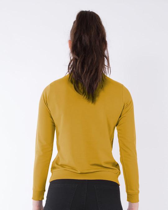 Shop Minimal Girl Power  Sweatshirt-Back