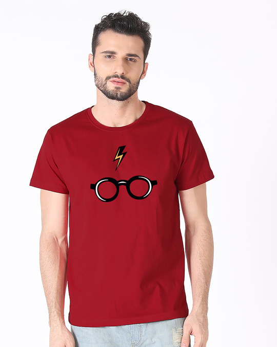 Shop Minimal Harry Potter Half Sleeve T-Shirt (HPL)-Back