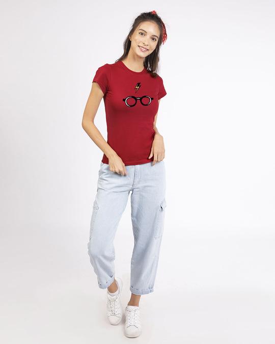 Shop Minimal Harry Potter Half Sleeve T-shirt (HPL)-Design