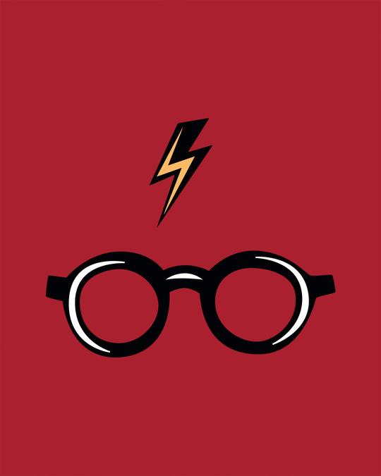 Shop Minimal Harry Potter Half Sleeve T-shirt (HPL)-Full