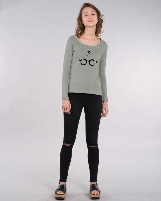 Shop Minimal Harry Potter Scoop Neck Full Sleeve T-Shirt (HPL)-Design