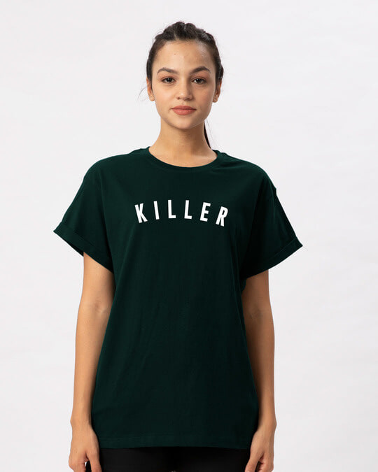 Shop Minimal Killer Boyfriend T-Shirt-Front