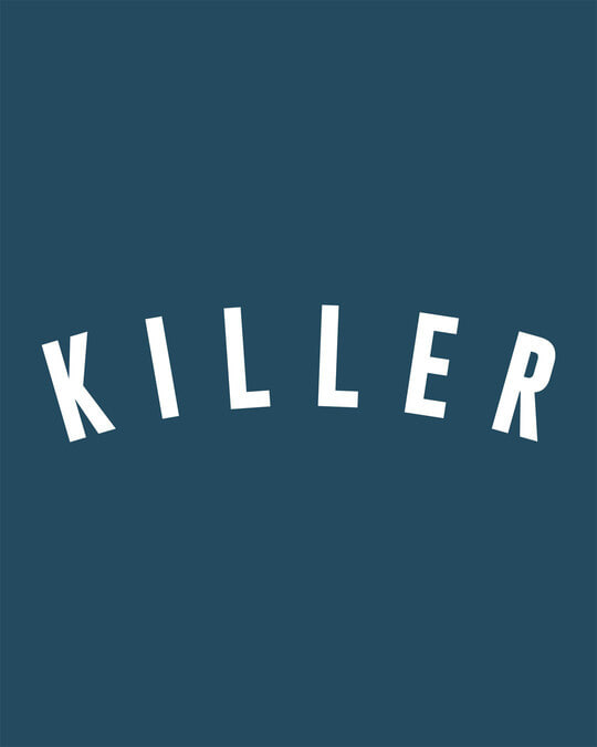 Shop Minimal Killer Round Neck 3/4th Sleeve T-Shirt