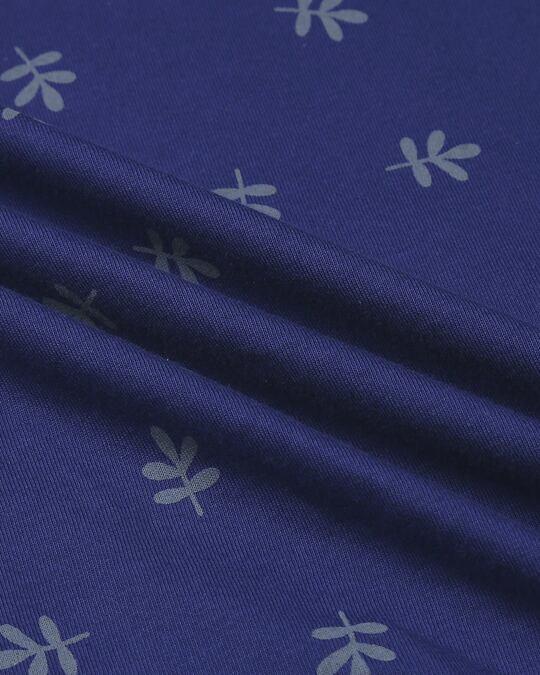 Shop Minimal Leaf 3/4 Sleeve AOP T-Shirt