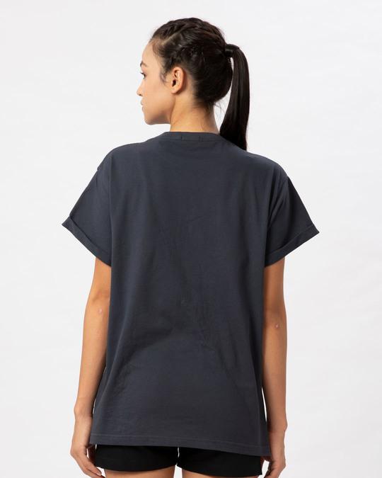 Shop Minimal Mahakal Boyfriend T-Shirt-Full