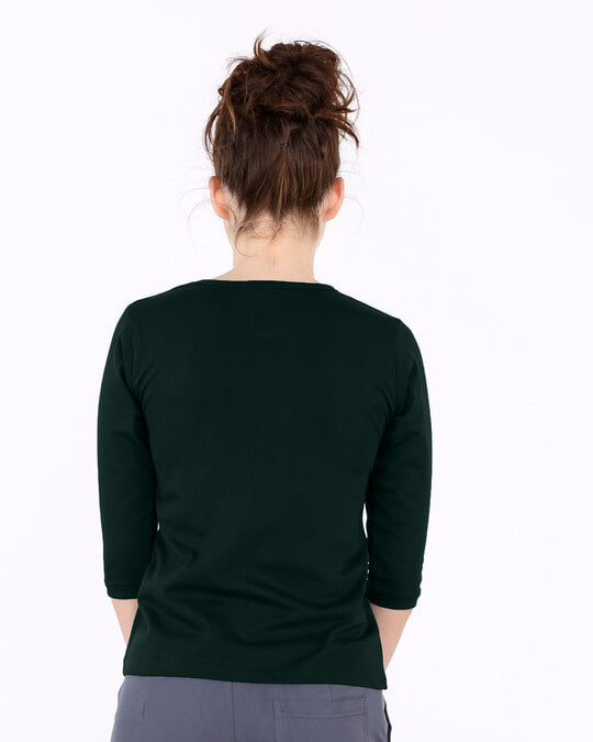 Shop Minimal Mahakal Round Neck 3/4th Sleeve T-Shirt-Back