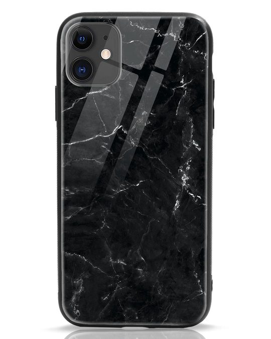 Shop Minimal Marble iPhone 11 Glass Mobile Cover-Front