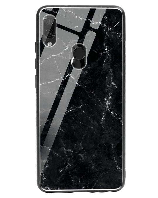 Shop Minimal Marble Xiaomi Redmi Note 7 Glass Mobile Cover-Front
