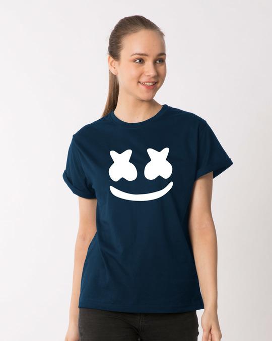 Shop Minimal Marshmello Boyfriend T-Shirt-Front