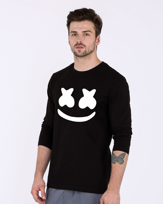 Shop Minimal Marshmello Full Sleeve T-Shirt-Back