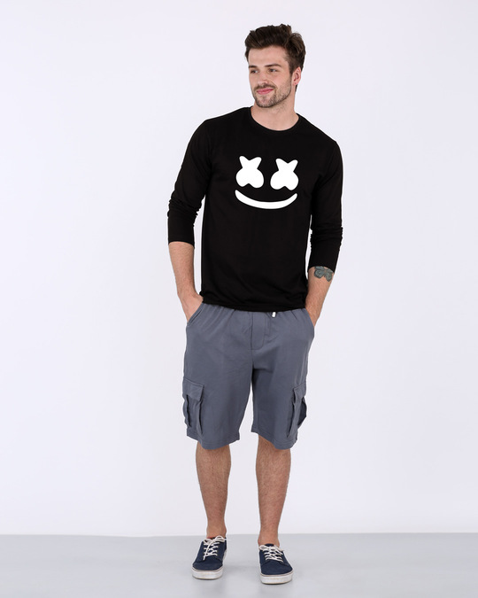 Shop Minimal Marshmello Full Sleeve T-Shirt-Full