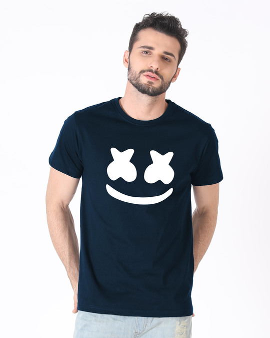 Shop Minimal Marshmello Half Sleeve T-Shirt-Back