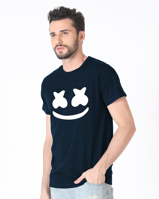 Shop Minimal Marshmello Half Sleeve T-Shirt-Full