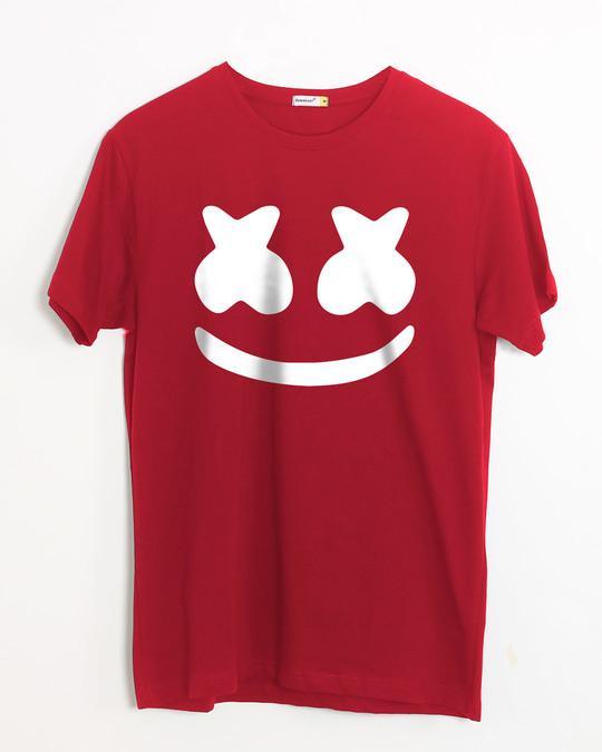 Shop Minimal Marshmello Half Sleeve T-Shirt-Front