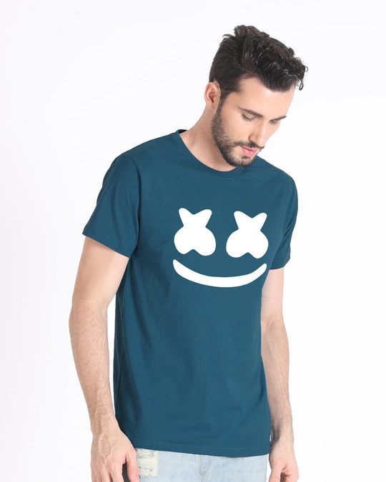 Shop Minimal Marshmello Half Sleeve T-Shirt-Design