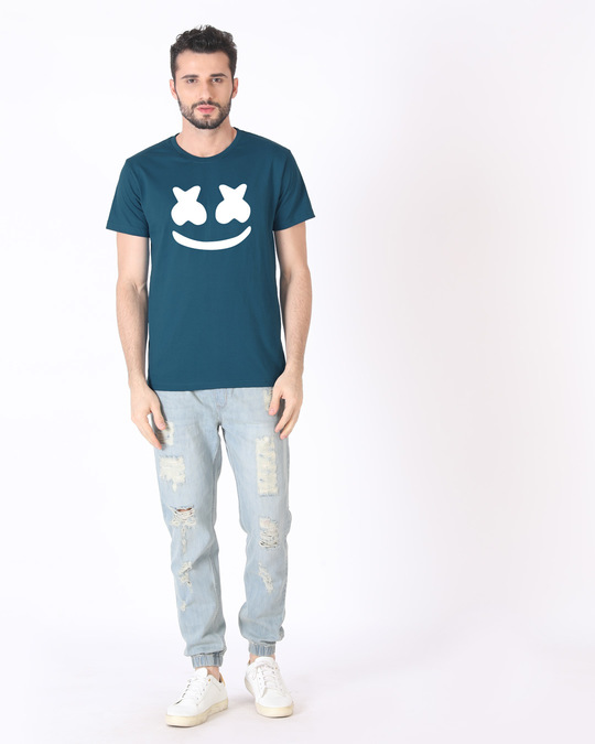 Shop Minimal Marshmello Half Sleeve T-Shirt