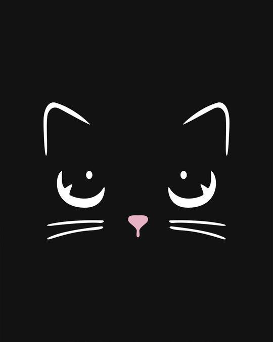 Shop Minimal Meow Basic Round Hem T-Shirt