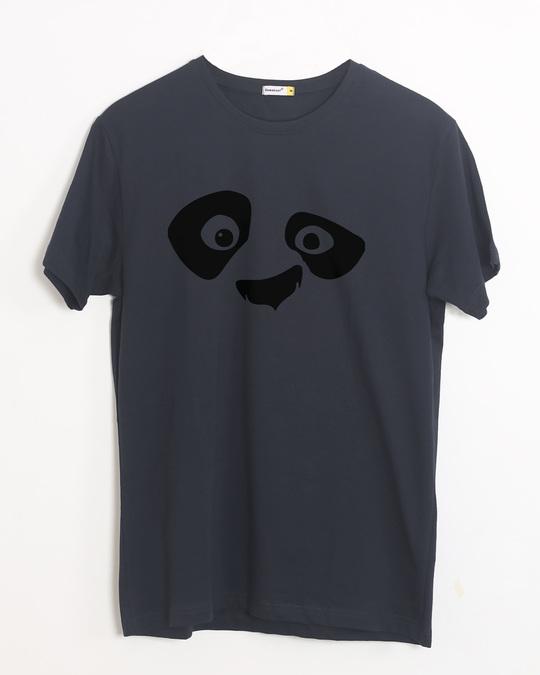 Shop Minimal Panda Half Sleeve T-Shirt-Front