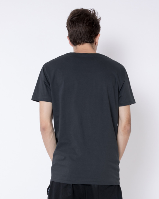 Shop Minimal Panda Half Sleeve T-Shirt-Full