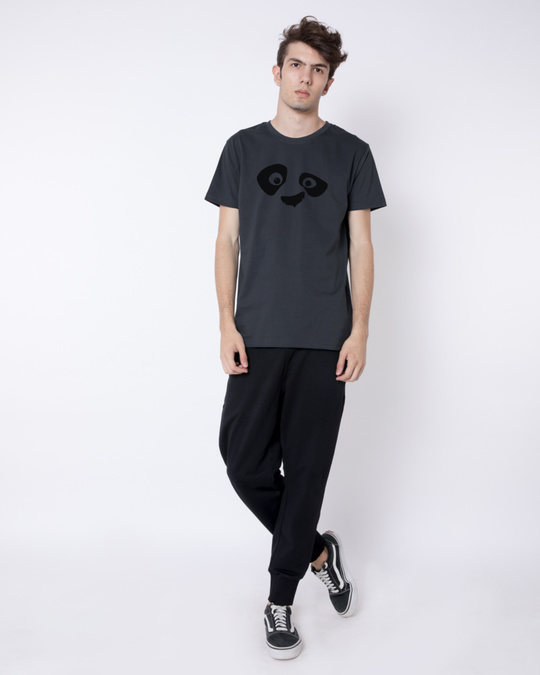 Shop Minimal Panda Half Sleeve T-Shirt