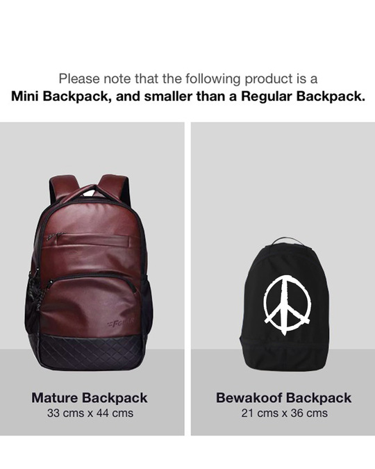 Shop Minimal Peace Small Backpack