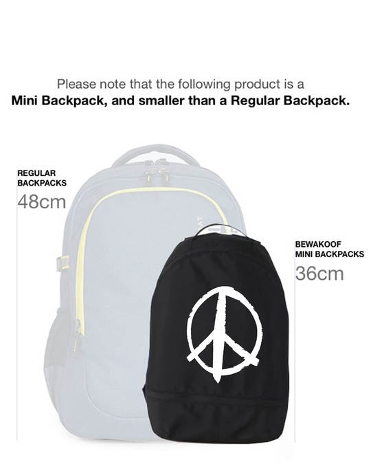 Shop Minimal Peace Small Backpack-Back
