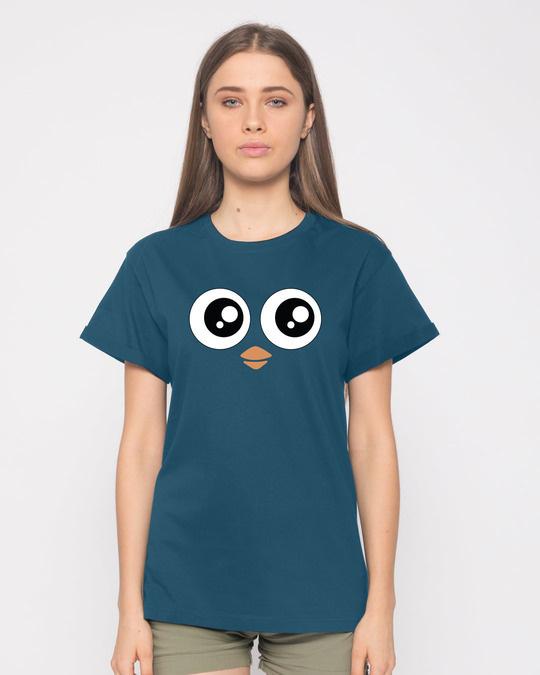 Shop Minimal Penguin Boyfriend T-Shirt-Front