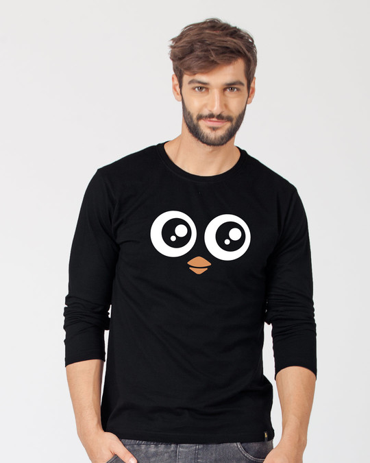 Shop Minimal Penguin Full Sleeve T-Shirt-Front