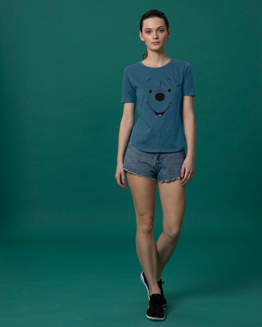Shop Minimal Pooh Basic Round Hem T-Shirt