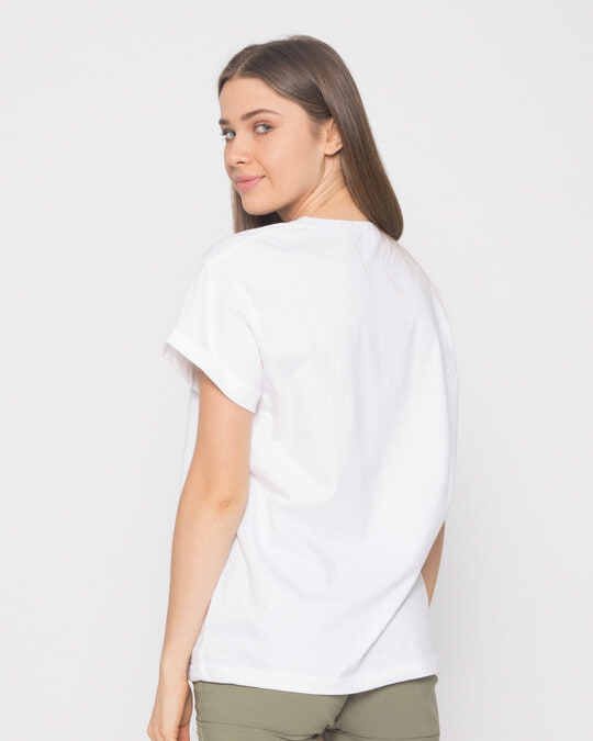 Shop Minimal Pooh Boyfriend T-Shirt-Full
