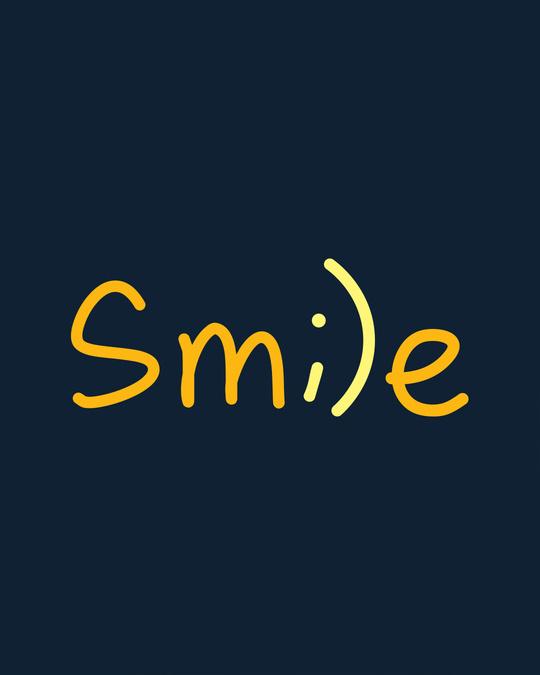 Shop Minimal Smile Basic Round Hem T-Shirt