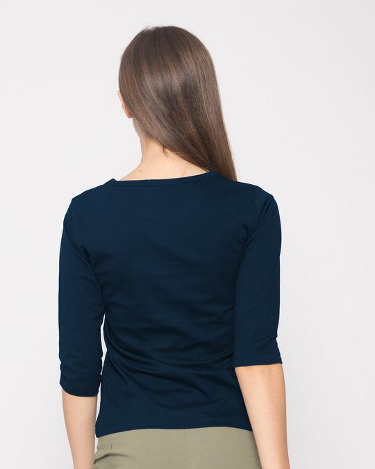 Shop Minimal Smile Round Neck 3/4th Sleeve T-Shirt-Back