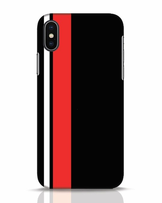 Shop Minimal Stripes iPhone X Mobile Cover-Front