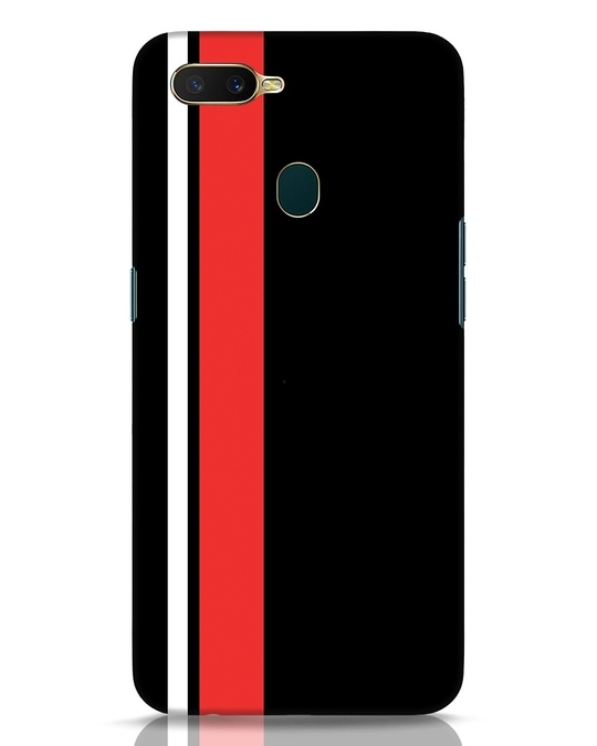 Shop Minimal Stripes Oppo A7 Mobile Cover-Front