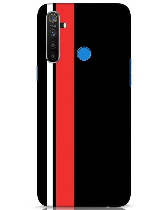 Shop Minimal Stripes Realme 5 Mobile Cover-Front